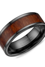 Torque Torque Black Ceramic (9mm) Wood Centre Mens Band