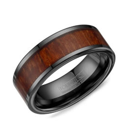 Torque Torque Black Cobalt and Wood Centre Mens Ring Band
