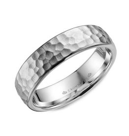 Torque White Cobalt Hammered Finish Mens Ring