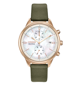 Citizen Citizen Chandler Ladies Eco Drive Leather Band Watch