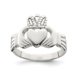 Sterling Silver Claddagh Mens Ring