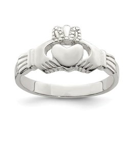 Silver Claddagh Ladies Ring