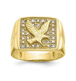 Yellow Gold Diamond Eagle Ring
