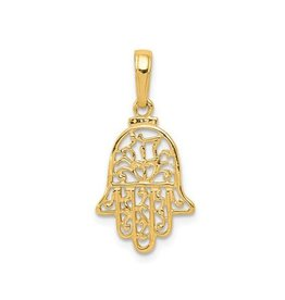 Yellow Gold Chamseh / Hamsa Ladies Pendant