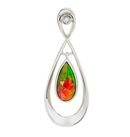 Korite Korite Elenor Ammolite Sterling Silver Infinity Pendant