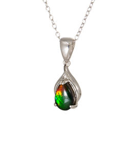 Korite Korite Nina Ammolite Sterling Silver Dangle Pendant