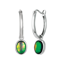 Korite Korite Ammolite Lana Sterling Silver Dangle Earrings