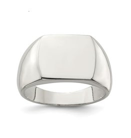 Sterling Silver Mens Open Back Signet Ring