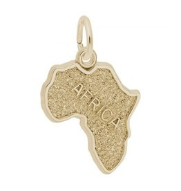 Nuco Map of Africa Gold Plated Pendant Charm