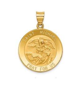 14K Yellow Gold St. Michael Medal Pendant