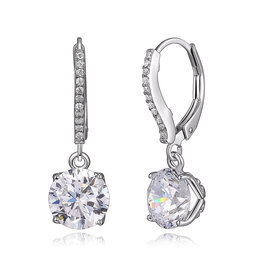 Reign Reign Sterling Silver CZ Drop Earrings