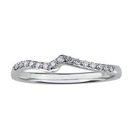 18K Palladium White Gold Diamond Matching Wedding