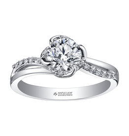 Maple Leaf Diamonds 18K Palladium White Gold (0.50ct) Maple Leaf Canadian Diamond Engagement Ring