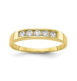10K Yellow Gold CZ Baby Ring