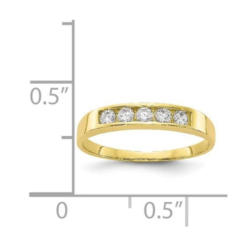 Yellow Gold Polished Baby Ring