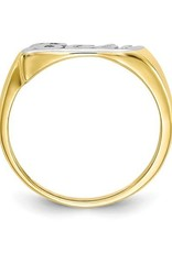 Yellow Gold and Rhodium Baby Ring