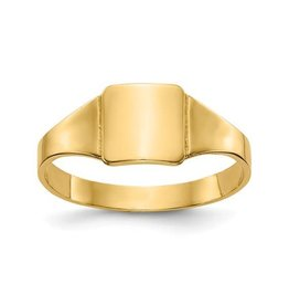 14K Yellow Gold Children's Signet Ring