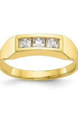 Yellow Gold Baby CZ Ring