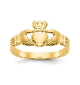 14K Yellow Gold Baby Claddagh Ring