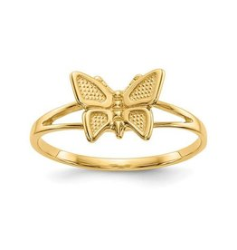 14K Yellow Gold Baby Butterfly Ring