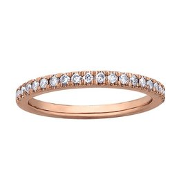 Pink Passion 14K Rose Gold Pink Passion (0.26ct) Pavee Set Diamond Stackable Matching Wedding Band