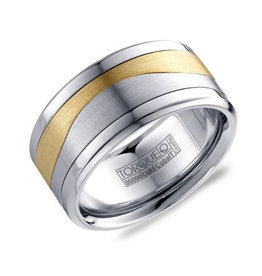 Torque Torque Cobalt, Titanium and 10K Yellow Gold 10.5mm Men's Wedding Band