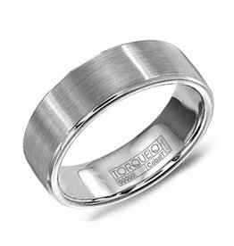 Torque Torque White Cobalt Brushed Mens Ring