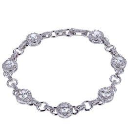Reign Reign Sterling Silver Halo CZ Bracelet