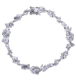 Reign Reign Sterling Silver Multi Shape CZ Bracelet