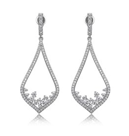 Reign Reign Sterling Silver Geometric Waterfall Drop Earrings