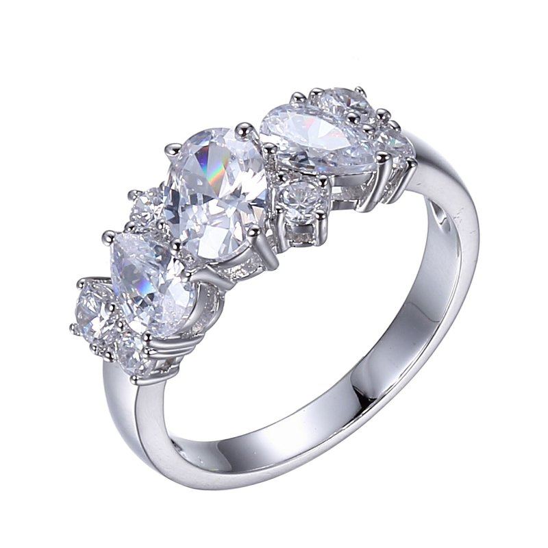Reign Reign Sterling Silver Multi Shape CZ Ring