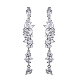 Reign Reign Sterling Silver Multi Shaped CZ Drop Earrings