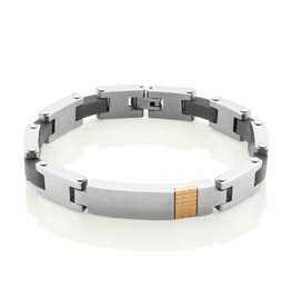 Steelx Steelx Stainless Steel Rose IP Carbon Fiber Bracelet
