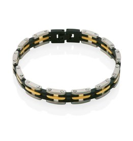Steelx Steelx Stainless Steel Three Tone Bracelet