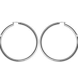 Elle Elle Sterling Silver Hoop Earrings