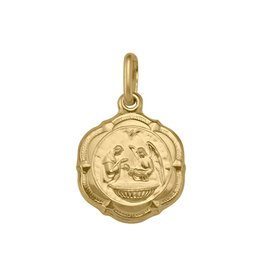 Yellow Gold Medium Baptism (10K ,14K, 18K) Pendant