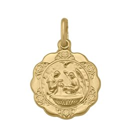 Yellow Gold Baptism Pendant Large (10K - 18K)