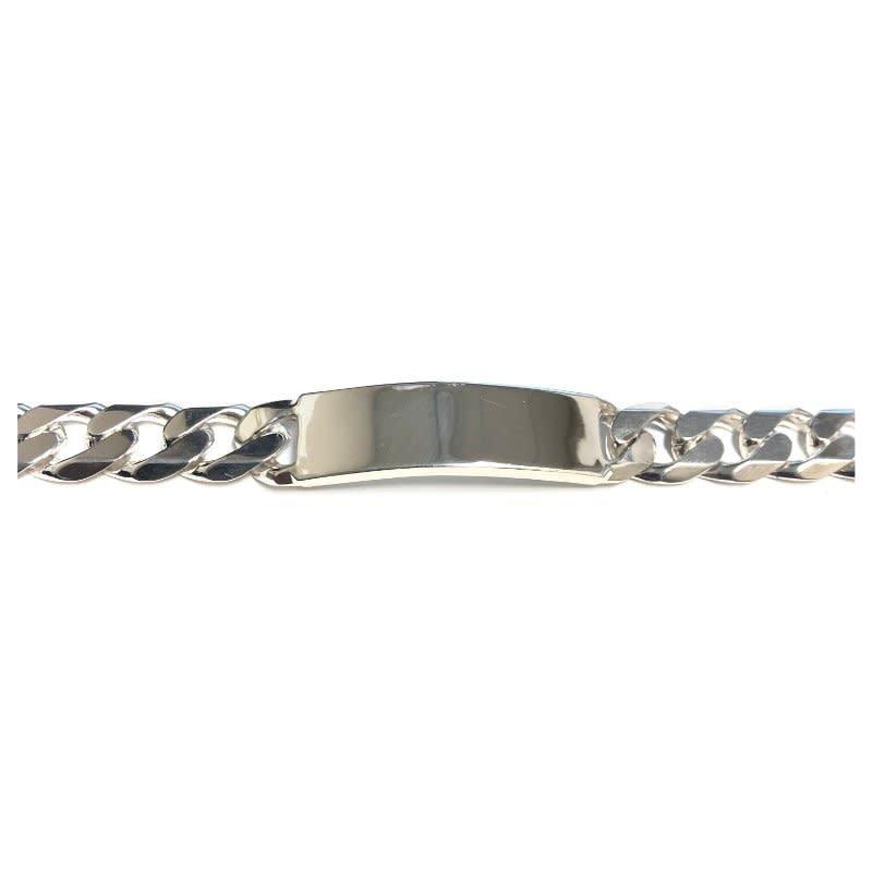 "Sterling Silver 13mm Curb ID Bracelet 9.25"""