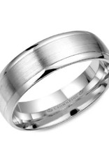 Crown Ring Crown Ring White Gold 7mm Brushed Centre Band