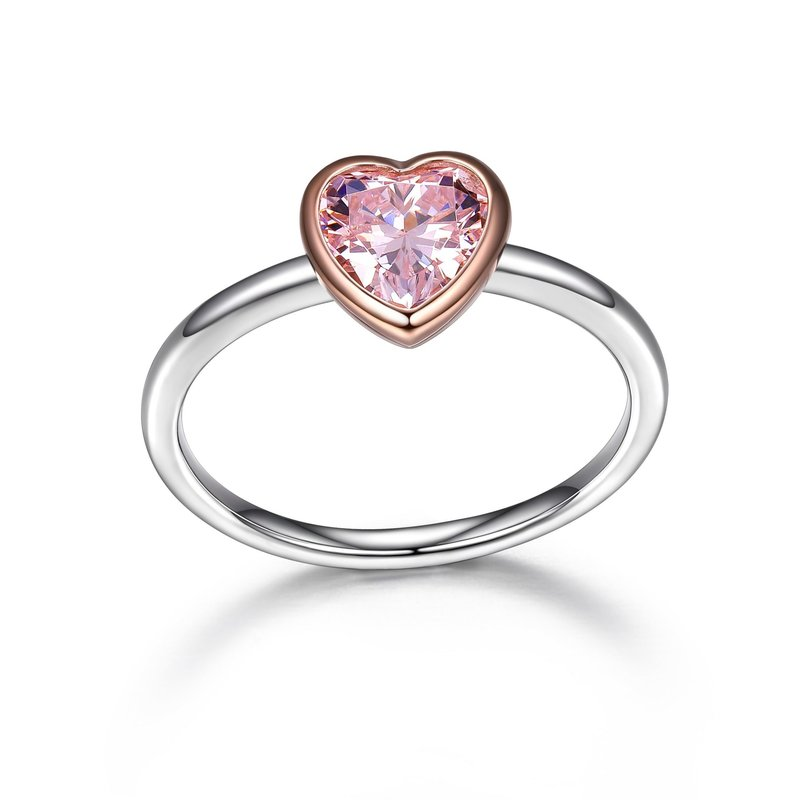 Reign Reign Sterling Silver Pink Heart CZ Ring