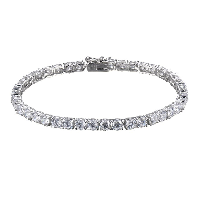 Reign Reign Sterling Silver CZ Tennis Bracelet