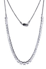 Reign Reign Sterling Silver CZ Necklace