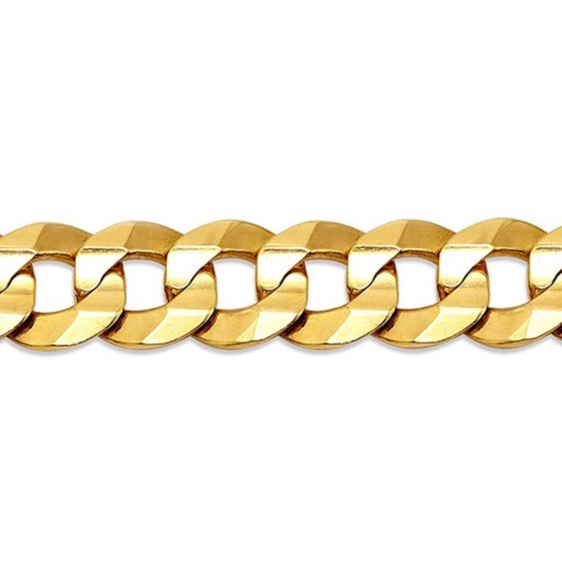 Yellow Gold (20 - 24in) Curb Chain 8.5mm