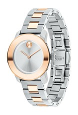 Movado Movado Bold with Pink Sunray Dot Silver Dial