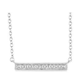 Silver Bar Diamond Necklace