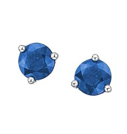 White Gold Martini Set Sapphire Stud Earrings