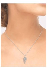 Silver Angel Wing Diamond Necklace
