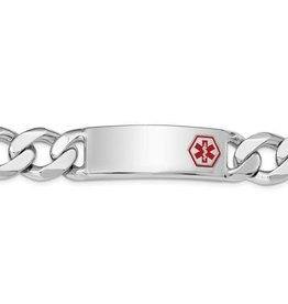 Sterling Silver Mens Medical ID Curb Link Bracelet
