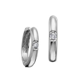 White Gold Canadian Diamond Hoop Earrings