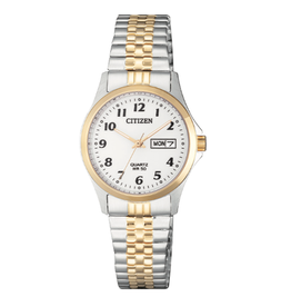 Citizen Citizen Ladies Quartz Two Tone Stretch Band Watch